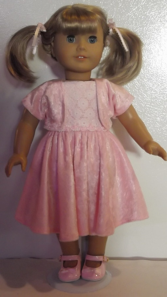 American Girl doll clothes  Pink Dress Jacket & by susiestitchit, $18.00