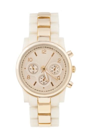 love a cream watch. plus rose gold? need.