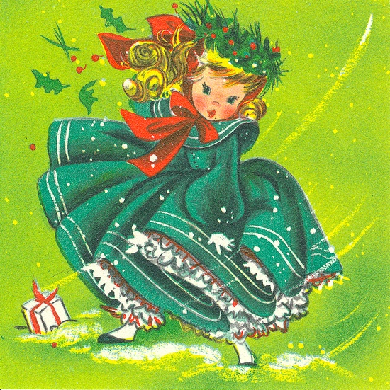 So darling. #vintage #Christmas #cards