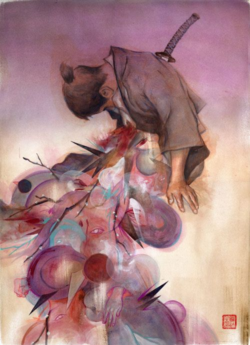by Tessar Lo #illustrator #illustration #drawing #painting #color #weird