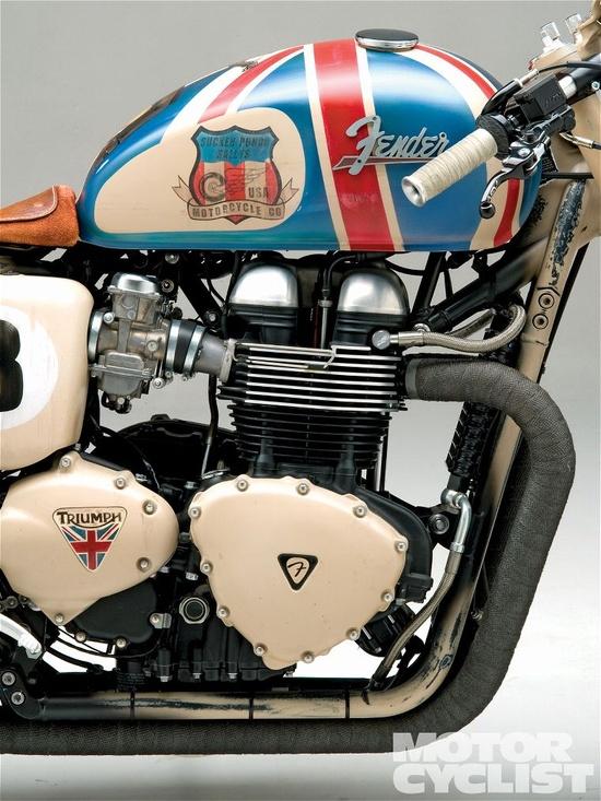Triumph Thruxton Cafe Racer Fender Guitar Pick