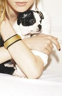 Can't decide which is cuter. The pup or the bracelet!
