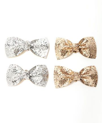 glitter bow shoe clips