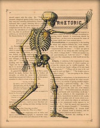 skeleton medical illustrations vintage halloween