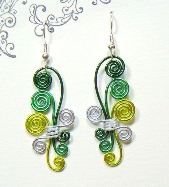 Cascading Spiral Wire Earrings