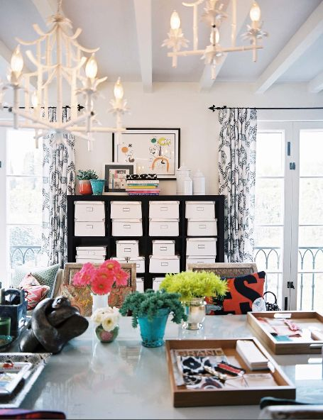 Inspiration from Pinterest: sublime office space of lonny magazine