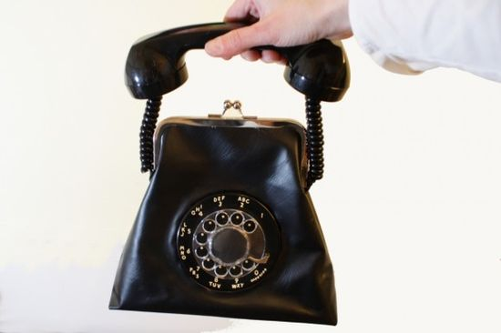 Rotary Phone purse! SOOOO cool!