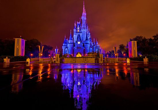 Cinderella Castle Kiss Goodnight Reflection www.travelcaffein...