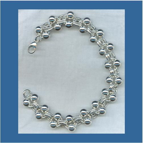 Silver Ball Bracelet from maryware jewelry