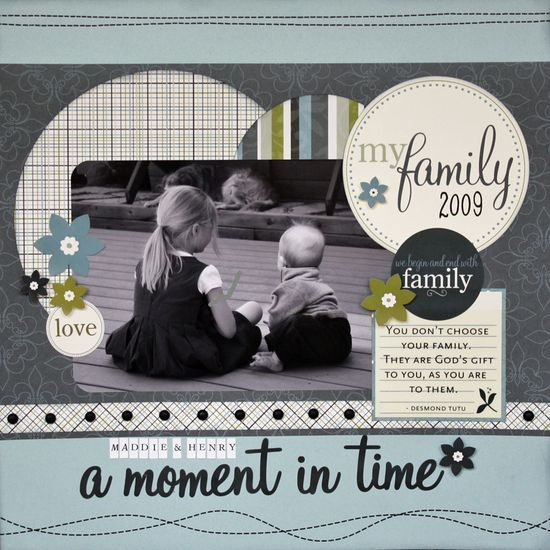 A Moment in Time #scrapbook #layout #circles #journal