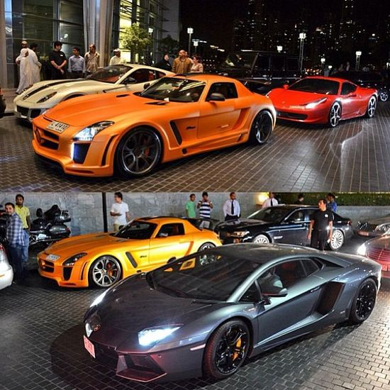 EPIC lineup!! Aventador, SLS, 458 and 599!! Take your pick!
