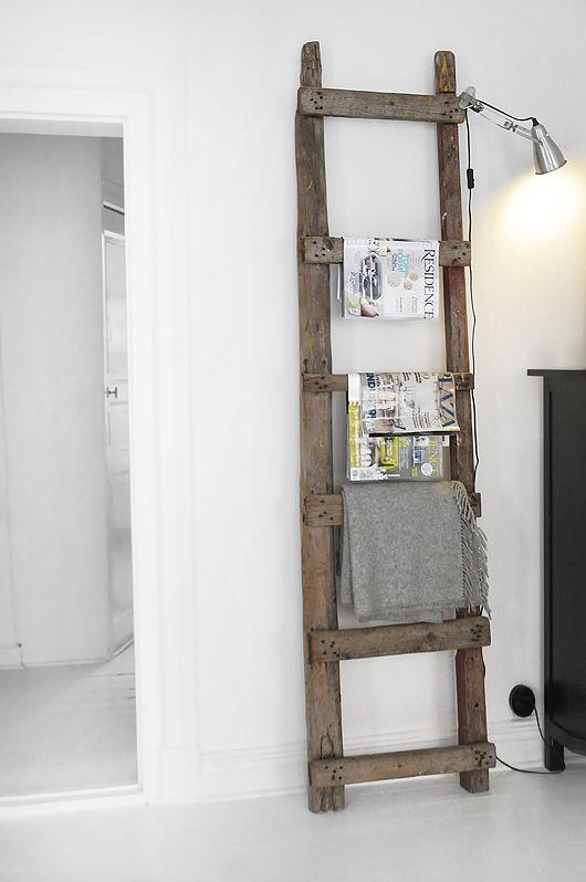 DIY mag rack/deco ladder
