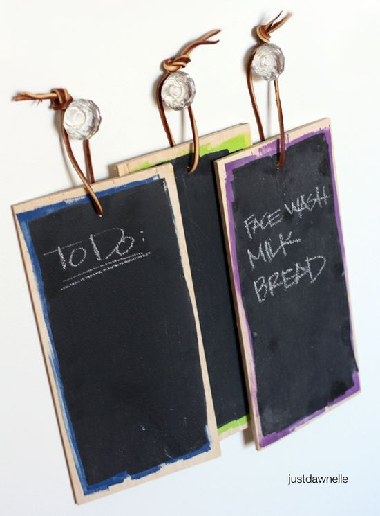 DIY Chalkboard Tablets. These make great gifts for just about anyone! Tutorial included.
