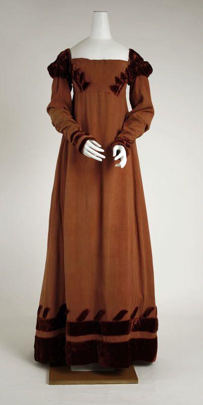 Dress, c. 1818. Empire/Regency era.
