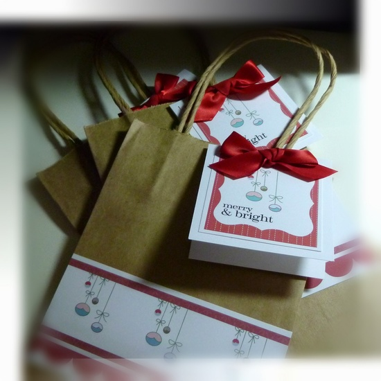 Adorable gift bags and cards
