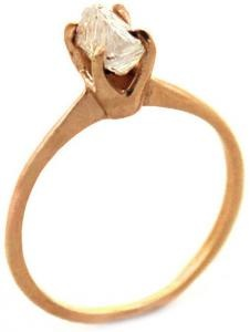 I love natural diamonds! // #raw #gold #diamond #ring