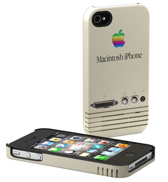 Retro Macintosh - the best iPhone case ever.    For those who missed out on the very first iPhone back in 1989, here's your chance to rock a retro look on your new iPhone! This case simulates the original's trademark vent grooves, SCSI port, ADB printer and modem ports as well as a stereo mini plug for speakers.    • Design is printed deep into the case's surface so it won't fade, peel or chip. Your case will continue to look as nice as the day you receive it!  • Hard removable case that firm...