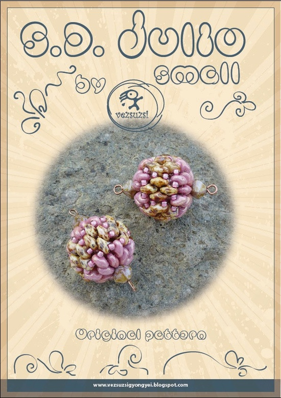 *P S.D. Julio small -Beaded Bead Pattern with Twin - PDF instruction for personal use only