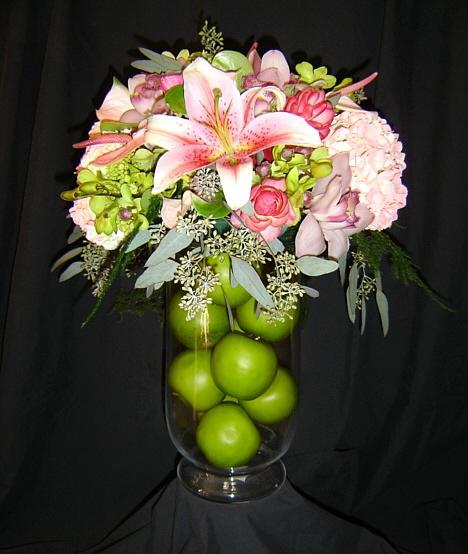 centerpieces; fruit might be a good idea...