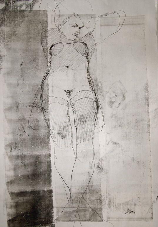 Michael Lentz - Nude no.2721 - monotype