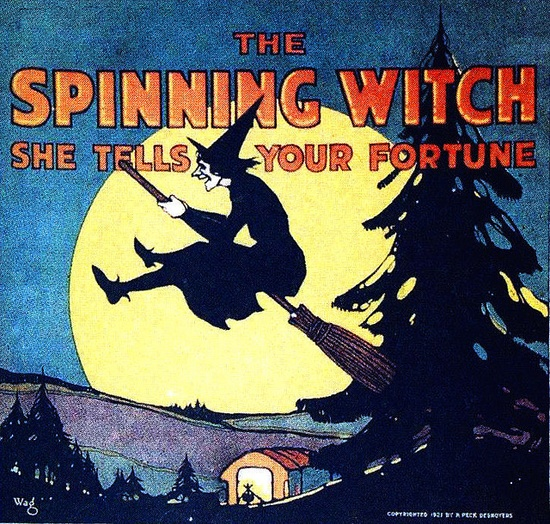 The fortune telling Spinning Witch. #vintage #witch #fortune #teller #games #Halloween