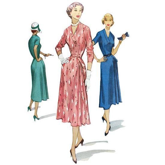 1950s Asymmetrical Draped Dress Pattern - McCall's 9279