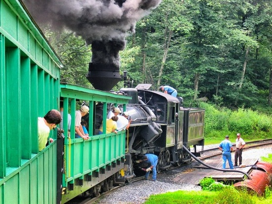 A ride up Bald Knob in West Virginia on the Cass Railroad is a great adventure with amazing sites