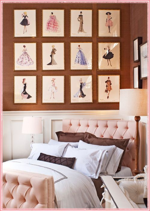 such a great girly bedroom