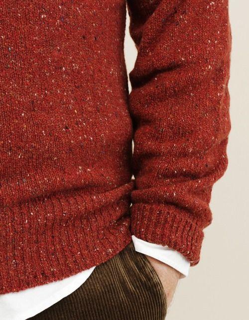orange red sweater