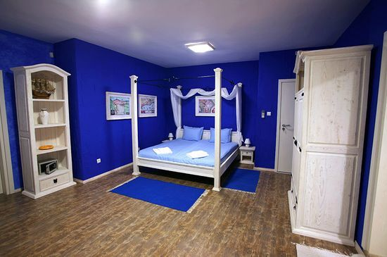 Bedroom...Blue bedroom interior design and decoration ideas