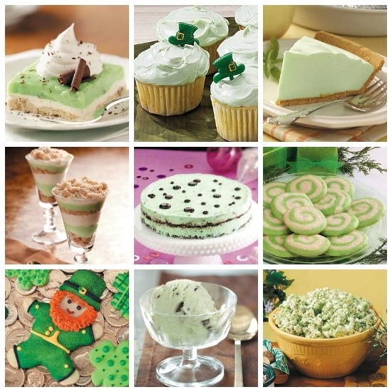Green Food Recipes for St. Patrick's Day from Taste of Home. You'll wish everyday was St. Patrick's Day so you could enjoy these green treats all year long.