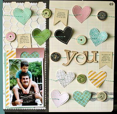 cute hearts!  #scrapbooking