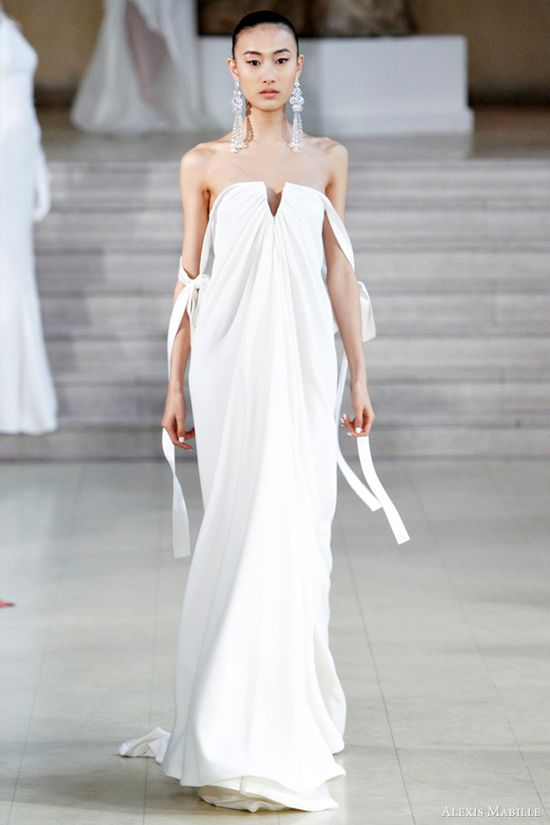 Alexis Mabille Spring/Summer 2011 couture - strapless white gown