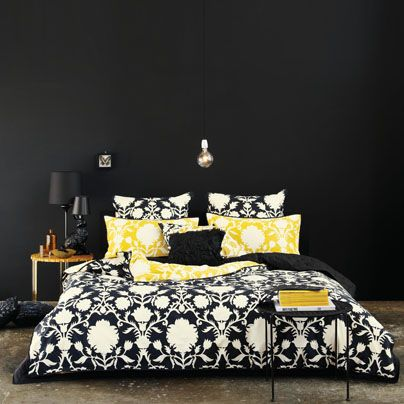 Normally I don't like dark bedrooms but I love this!