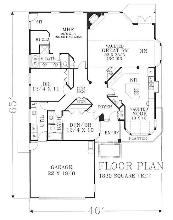 House Plan chp-22459 at COOLhouseplans.com
