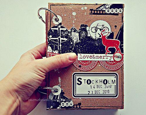 fab alternative christmas scrapbook
