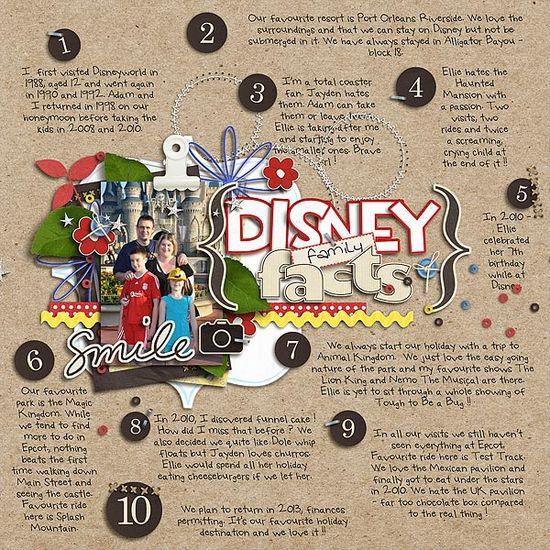 Cute Disney layout!