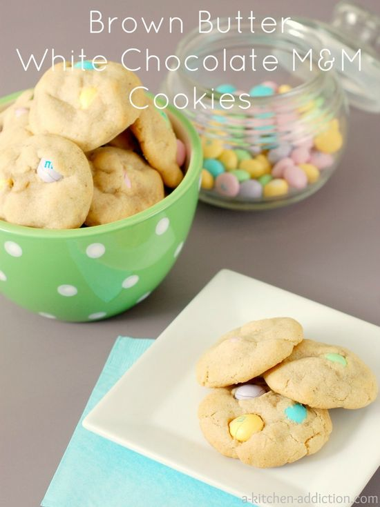 Brown Butter White Chocolate M Cookies from www.a-kitchen-add...