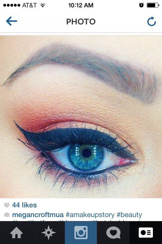 Sunset Eye makeup