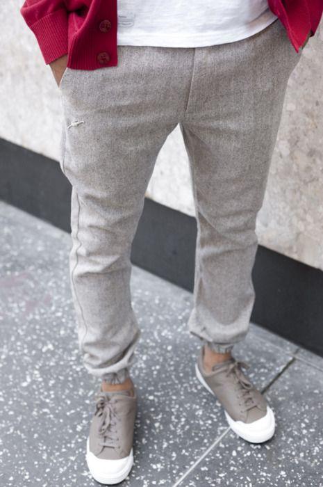 grey pants! love