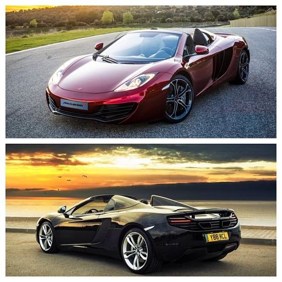 Mclaren black sunset and ruby red!