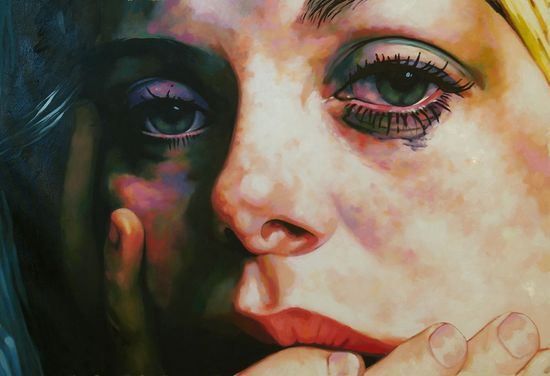 "Thomas Saliot; Oil, Painting ""Teary eyed Catherine"""