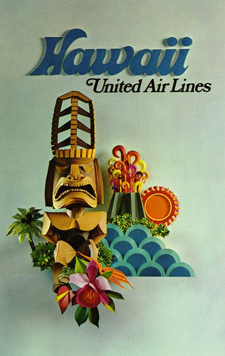 Hawaii * United Air Lines #travel #poster 1960s