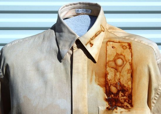 Medium Rust Dyed Upcycled Steampunk Shirt by OLearStudios on Etsy, $49.00