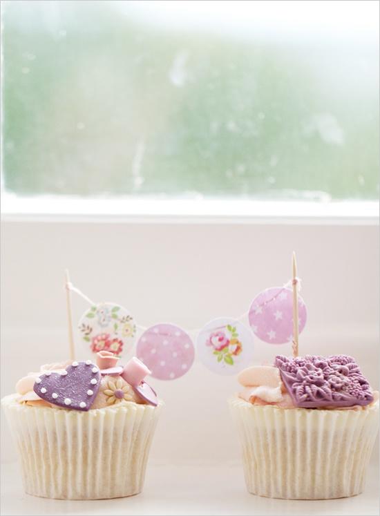 lavender cupcake banner