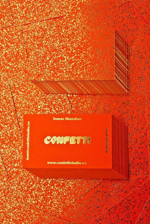confetti / business card