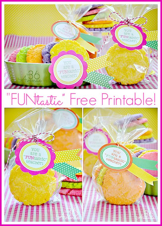 Teacher's Gift Idea and free printable by the36thavenue.com via www.thirtyhandmad...