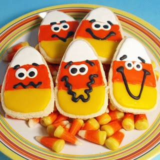 Candy Corn decorated Cookies