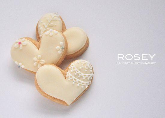 Mini heart cookies