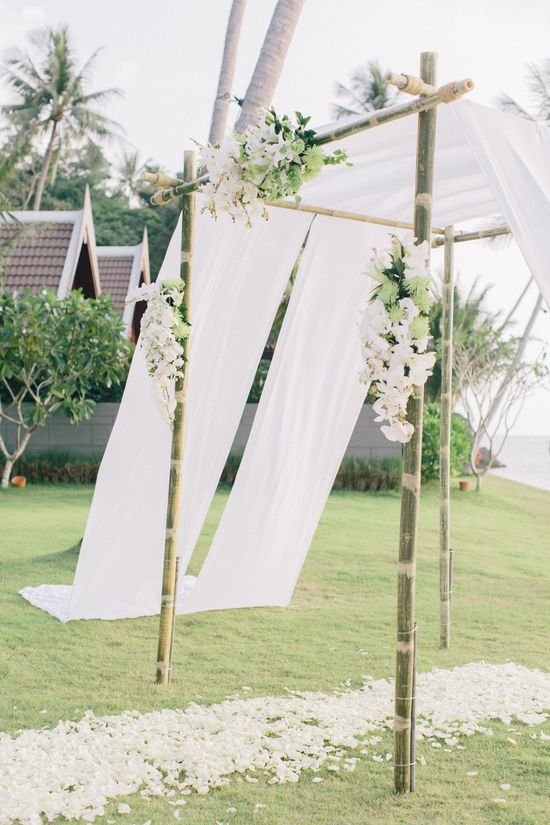 Tropical arbor. Thailand Wedding from Corbin Gurkin